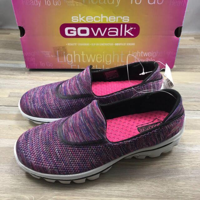 ahorrar proporcionar una gran selección de genuino mejor calificado Skechers GOwalk Slip on Walking Shoe Women's 8 Med Multi Knit ...