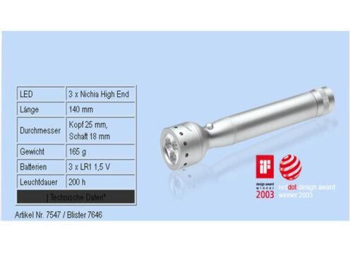 2x LED Lenser v2 triplex 7646 lampe de poche avec sacLED lampe éclairage bleu