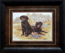 "Jim Killen ""Thats My Puppy Chocolate Lab Print-Framed-Signed 21 x 17"