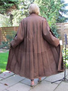 WOMENS-XXL-XXXL-Shearling-Lambskin-Sheepskin-Coat-Jacket-Ladies-D4144