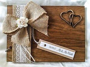 Personnalisé mariage anniversaire baptême livre scrapbook album en bois