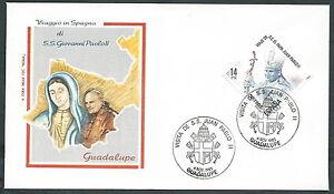 1982 Vaticano Viaggi Del Papa Spagna Guadalupe - Rm2