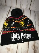 63df38362ae Harry Potter Gryffindor Fair Isle Licensed Beanie Winter Hat for ...