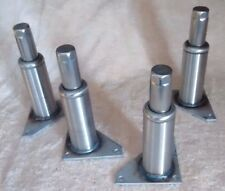 "KITCHEN EQUIPMENT LEGS COMMERCIAL STAINLESS 5 3/4"" ADJ. TO 6 7/8"" NEW SET OF (4)"