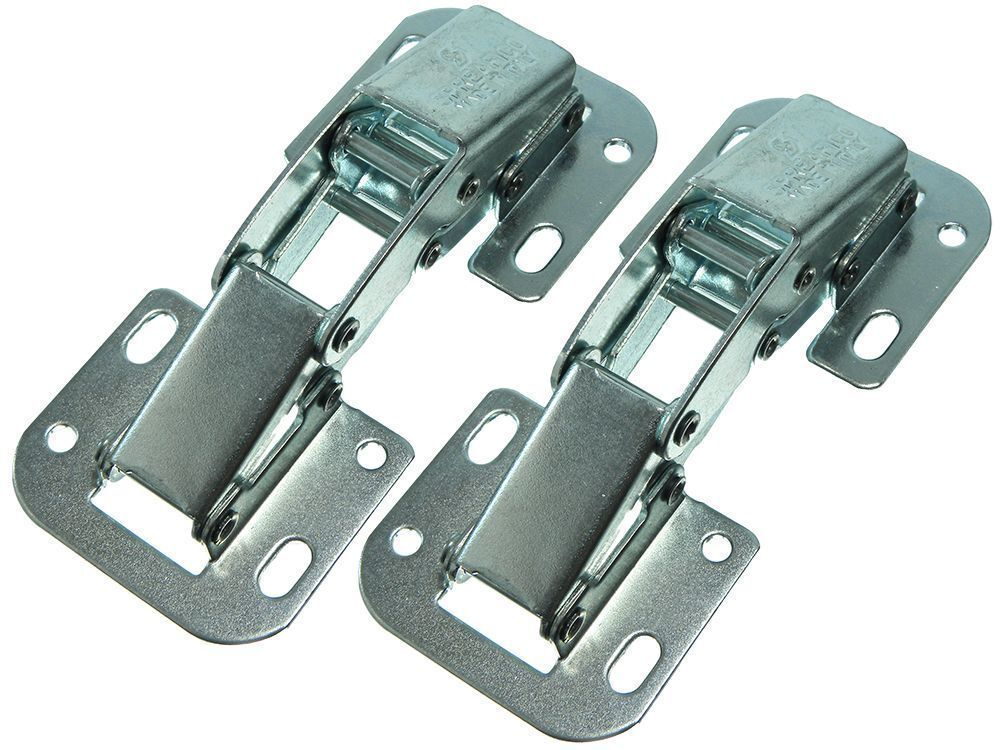 NEW Easy Fit Cabinet Cupboard Hinge Unsprung PLUS Fixing Screws Bzp Steel (40PK)