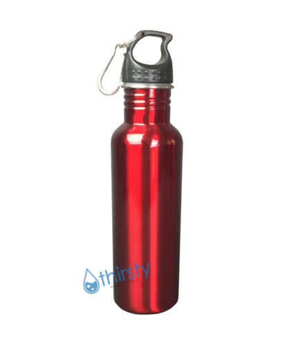 Stainless Steel Mug RED Container Water Bottle BPA Free Thermos Canteen 16 oz.