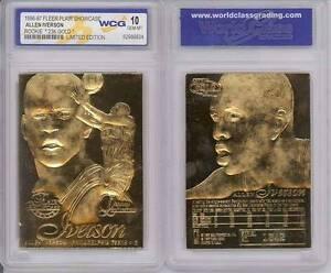 ALLEN-IVERSON-1996-97-Fleer-FLAIR-SHOWCASE-Rookie-23KT-Gold-Card-GEM-MINT-10