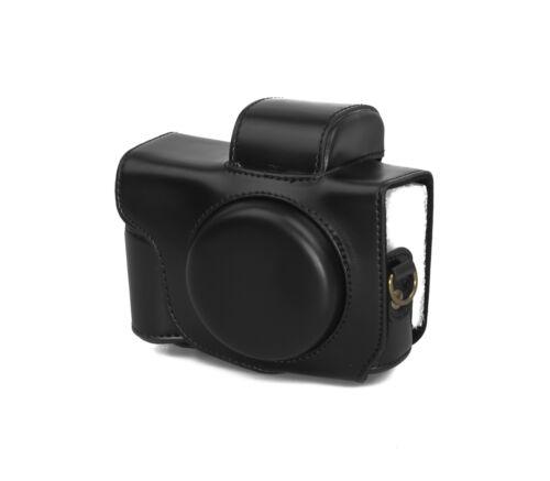 Estuche carcasa para Canon PowerShot g5x piel sintética g5 x bolso negro cc1119a