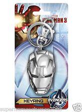 The Avengers Iron Man Pewter Helmet Keychain Keyring Marvel Comics Brand New