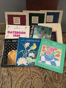 LOT-OF-11-Vintage-9-HALLMARK-DATE-BOOKS-2-CARLTON-BOOKS-98-Unused-NOS-1982-1995
