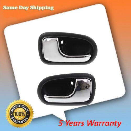For 93-97 Mazda 626 95-03 Protege Chrome /& Black DS562 Inner Door Handle Set