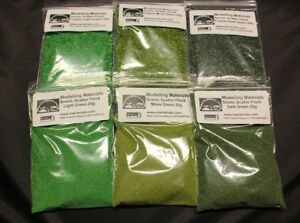 Scatter-Flock-Material-Green-Multipack-6-x-20g-Packs-Hornby-Wargame-Diorama