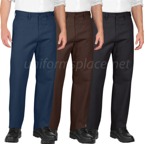 Dickies Pants Industrial Flat Front Relaxed Fit Pant LP812 Black Navy or Brown