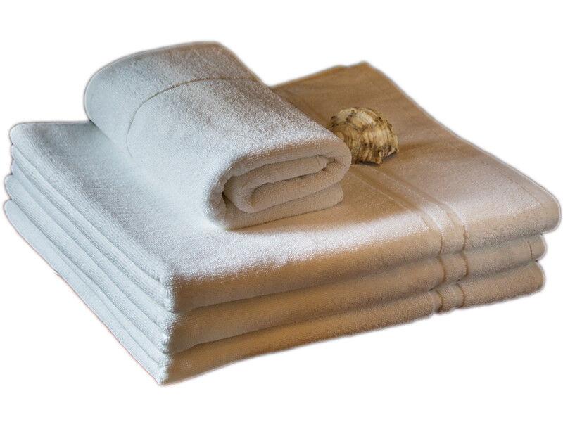 HOTEL Handtücher 50x100 Duschtücher 70x140 weiß 500g m² Badvorleger50x70 Stripes     | Modern