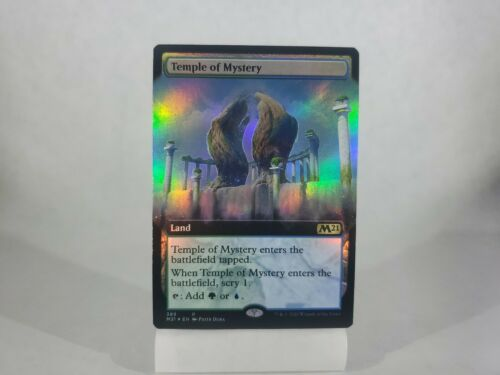 x1 389 RARE FOIL TEMPLE OF MYSTERY MTG M CORE 2021 EXTENDED ART
