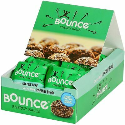 Marchio Popolare Bounce Cacao Menta Proteine Bomba Bounce Sfere 12 X 42g-