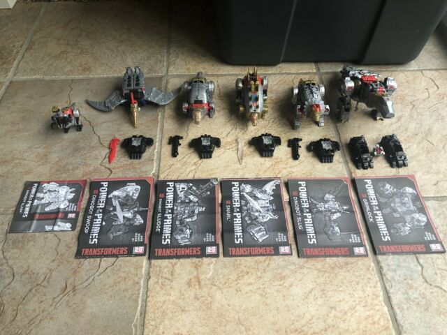 Transformers Power Of The Primes Dinobots (Volcanicus) Lot of 6 !! 100% Complete