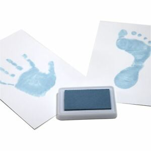 BABY-SAFE-Ink-Pad-Hand-amp-Foot-Prints-Reuseable-BLUE