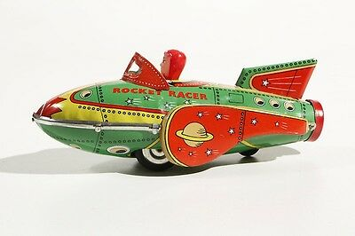 Vornehm Blechspielzeug Raketenfahrzeug Friktionsantrieb °° In Toy °° Jouet En Tôle °° Ideales Geschenk FüR Alle Gelegenheiten Blechspielzeug