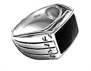 925 ECHT SILBER *** Onyx Ring Größenauswahl