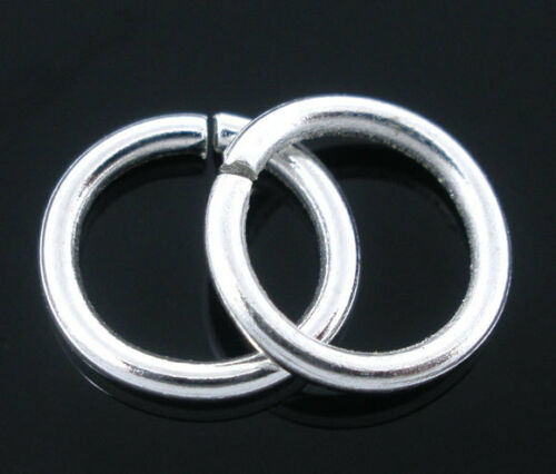 Wholesale Lots Silver Plated Open Jump Rings Findings 1.2x9mm
