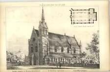 1879 Proposed New Church Design St Matthews Sydenham Southwest Prospect