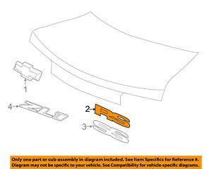 Details about Chevrolet GM OEM 10-16 Camaro Trunk Lid-Emblem Badge on
