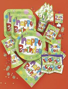 Happy-Birthday-Party-Tableware-Glee-Design-Plates-Cups-Napkins-Balloon