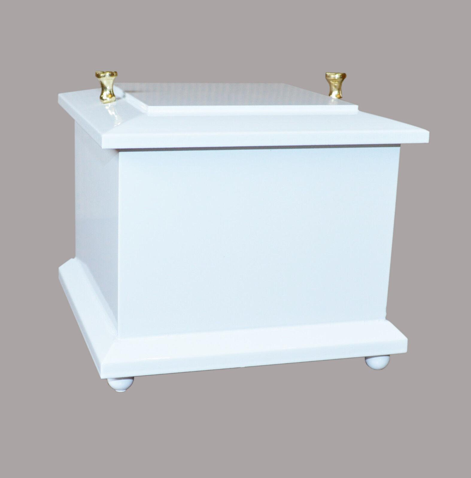 Solido Legno Scrigno Bianco Funerale Urna per Ceneri Cremazione Urne un Bambino