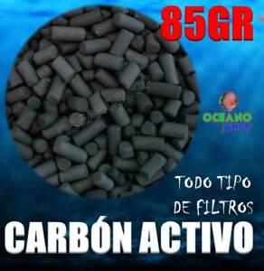 85GR CARBON ACTIVO ACUARIO FILTRO MOCHILA EXTERIOR INTERIOR INTERNO ACTIVADO