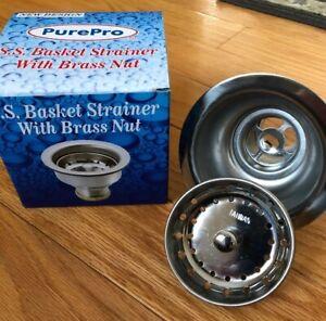 Surprising Details About New Stainless Steel Kitchen Sink Basket Strainer W Brass Nut 3 1 2 Download Free Architecture Designs Oxytwazosbritishbridgeorg