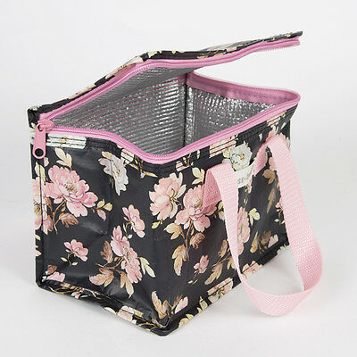 Kids Summer French Rose Adult School Insulated Cool Lunch Picnic Bag Sass Belle
