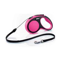 Flexi Comfort Small Medium Large Pink Grey Blue 5mtr Cord Tape Dog Pet Lead