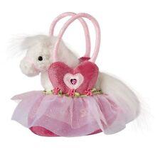 """Douglas Cuddle Toys 7"""" Plush PET SAK, BALLERINA HEART TOTE w WHITE HORSE ~NEW~"""
