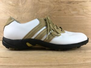 Image is loading Adidas-Traxion-Torsion-Vintage-White-Leather-Golf-Shoes- 43b5ec488c