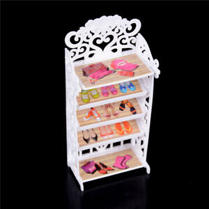 Dollhouse-Shoe-Cabinet-For-s-Doll-Mini-Living-Room-Home-Furniture-BDAU