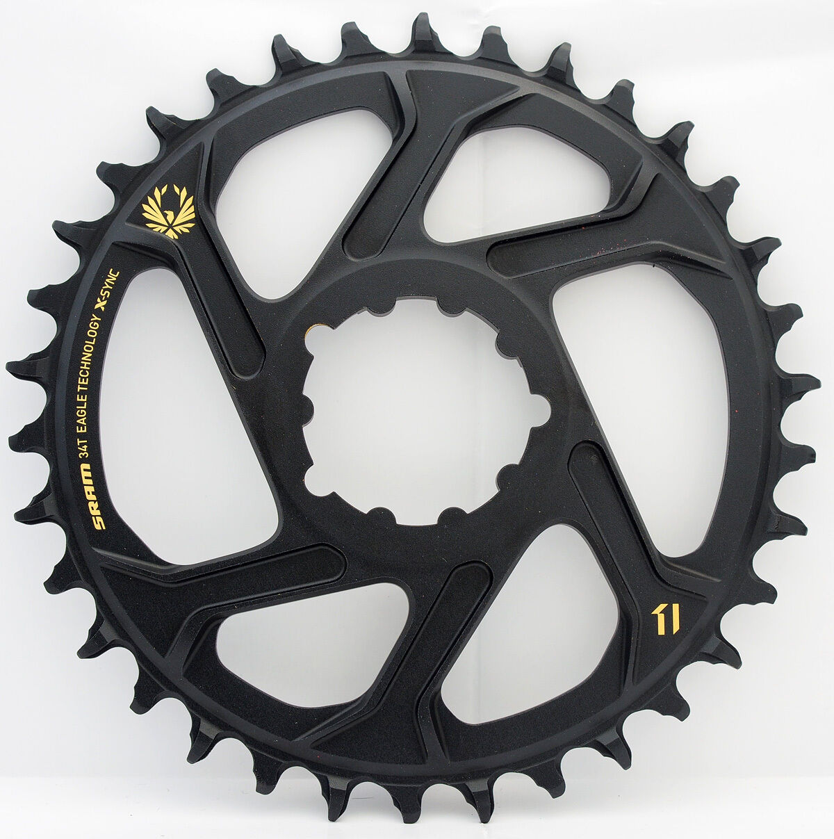 Sram X-SYNC 2 Eagle XX1 12 spd Direct Mount 34T Chainring 3mm Offset Boost gold