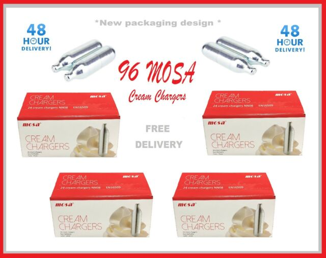Cream Chargers 8g MOSA Whipped  Whippers Dispensers N2O NOS NOZ Pro Whip Pack 96