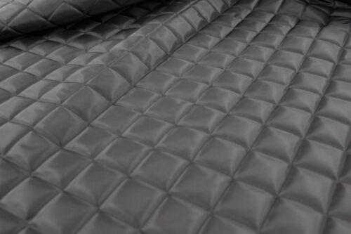 QUILTED FABRIC Showerproof 4oz Pre Quilted Waterproof Fabric 3 Colours Coats