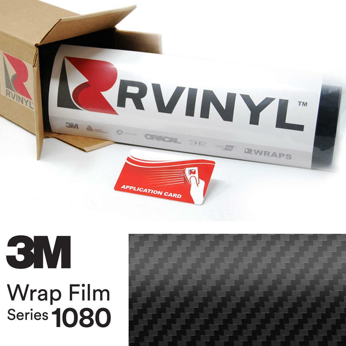 3M 1080 Scotchprint G12 Gloss Black Car Wrap Vinyl 5ft x 5ft