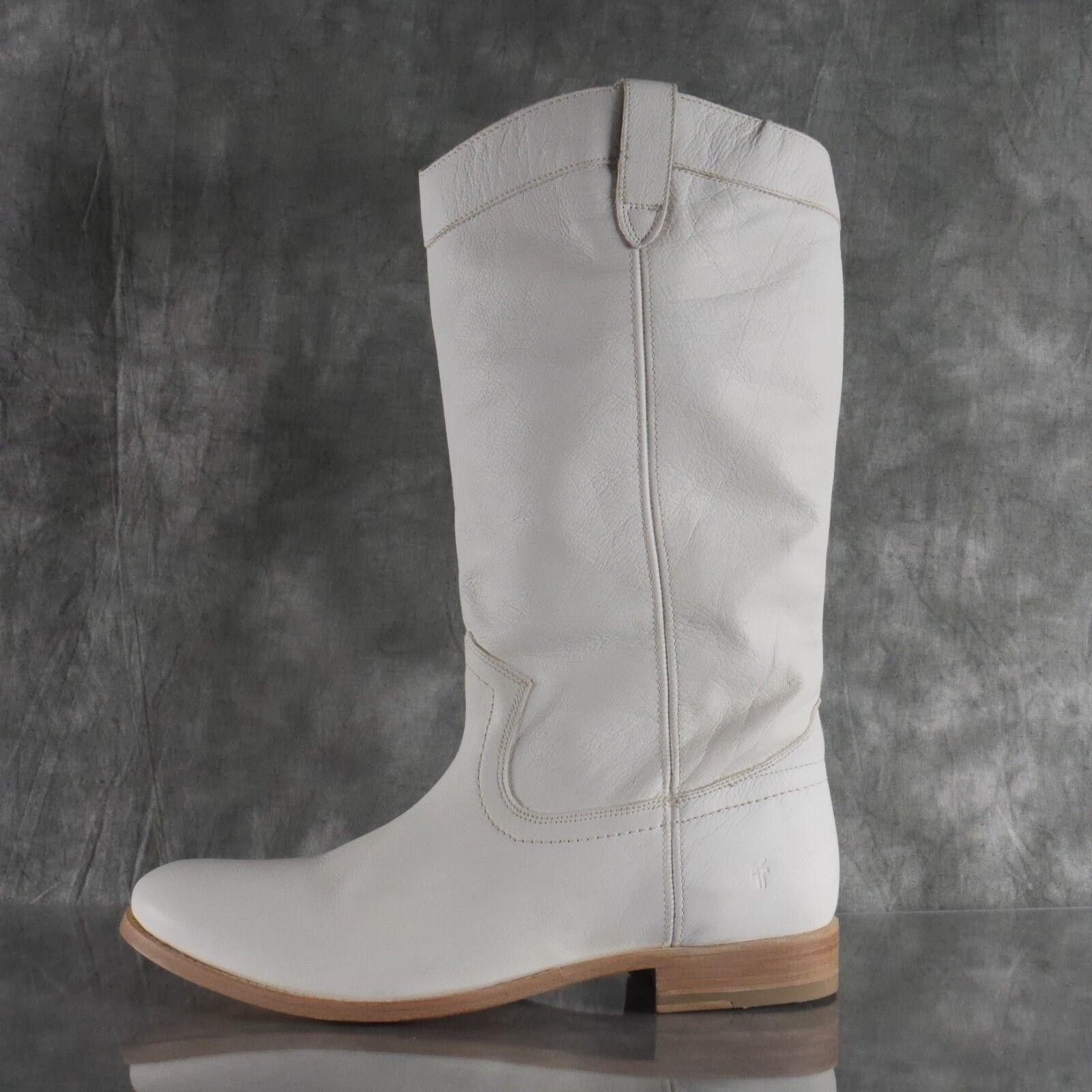 adfc54c667e3b0 NIB Frye MELISSA Weiß Leather Pull On On Pull ROPER Stiefel 71385 damen  Größe 11 M ANB 9e1027