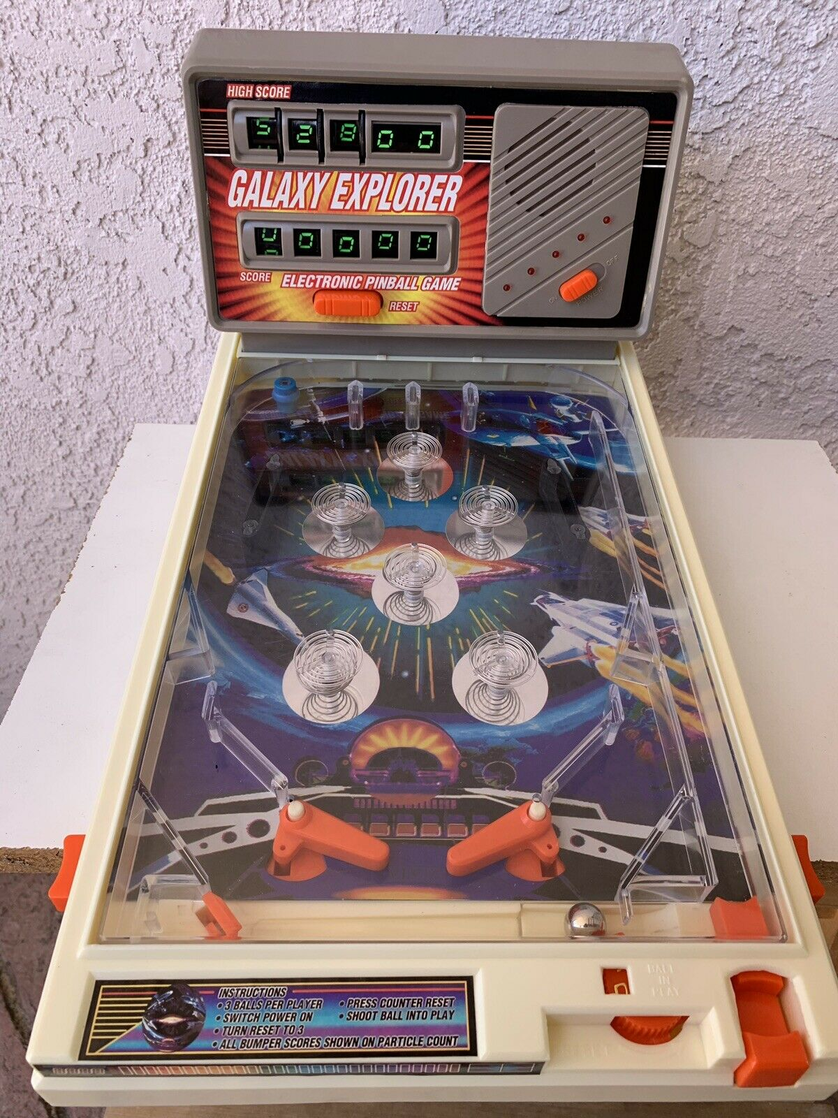 Vintage Galaxy Explorer Electronic Pinball Game