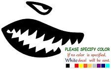 "Shark teeth  Funny  Vinyl Decal Sticker Car Window netbook laptop tablet 7"""