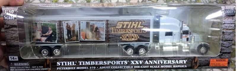 NORSCOT 1 50 Moulé Sous Pression Stihl Timbersports XXV anniversaire PETERBILT Model 379