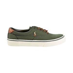 Polo-Ralph-Lauren-Thorton-Canvas-Men-039-s-Shoes-New-Olive-816713106-005
