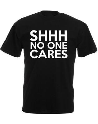 CHUT No One Cares Homme T-shirt imprimé/% 100 décontracté en coton à encolure ras-du-Cou Tee Shirt