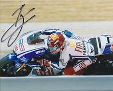 Jorge Lorenzo SIGNED MotoGP Champion Barcelona YAMAHA 10x8 Photo AFTAL