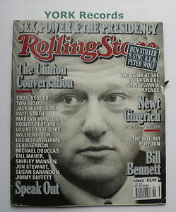 ROLLING-STONE-MAGAZINE-Issue-799-November-12th-1998-Bill-Clinton-R-E-M