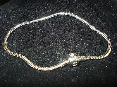 silver snake chain charm bracelet handmade new for 2018