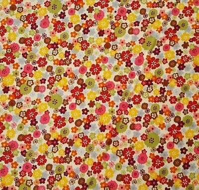 Mariposa Laura Berringer Marcus BTY Calico Floral Small Flowers Multi-Colored